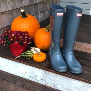 Slate Gray Gloss Hunter Boots